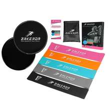 ZAKERDA  Resistance Bands with Gliding Discs Core Sliders