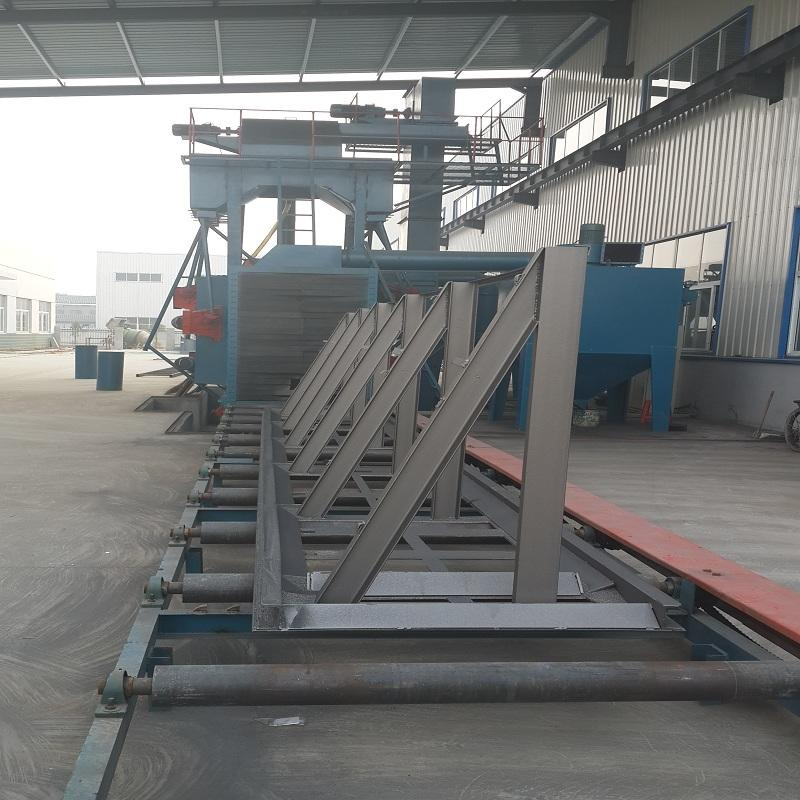 frame h beam shot blasting machine