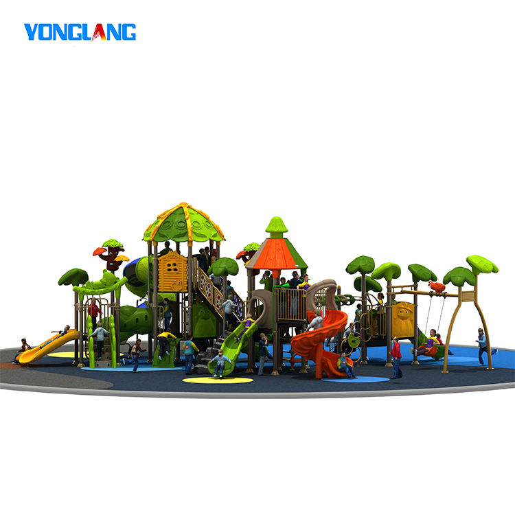 Amusement Commercial Outdoor Plastic Slides Playground Equipment