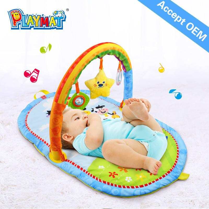 Su geçirmez bebek oyun mat yumuşak peluş hayvan, taşıması kolay