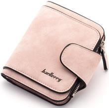 Matte PU leather hand purse baellerry women short section wallet with cards slot coin pocket,lady fashion purse