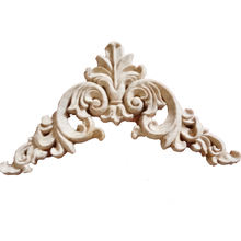 Europe type wood carving corner flower background wall cabinet door wood flower piece