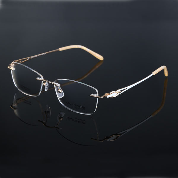 티타늄 glasses frame diamond 무테 stock eyewear new model eyewear frame glasses