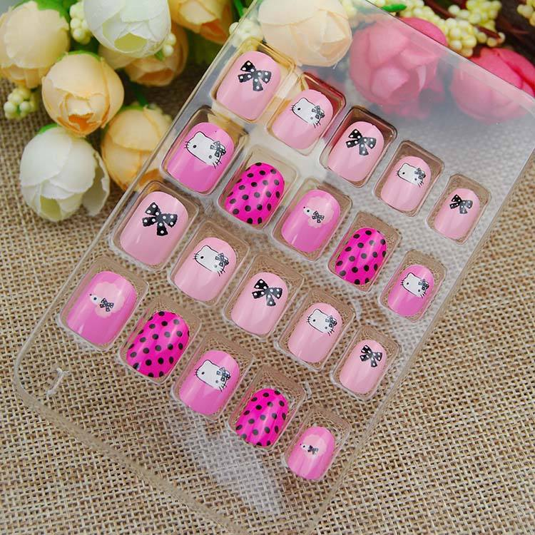 Girls Acrylic Nails Tips Nail Toy