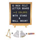 China Wholesale 10x10 Inches Message Black Felt Letter Board with Oak Frame Stand