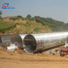Factory price assembled corrugated galvanized steel culvert pipe