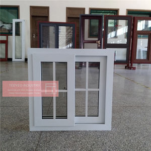 Cheap house pvc windows modern window grill design for sale