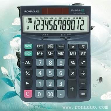 Calculadora escala 120t-d imposto calculadora portátil calculadora de mesa com célula solar