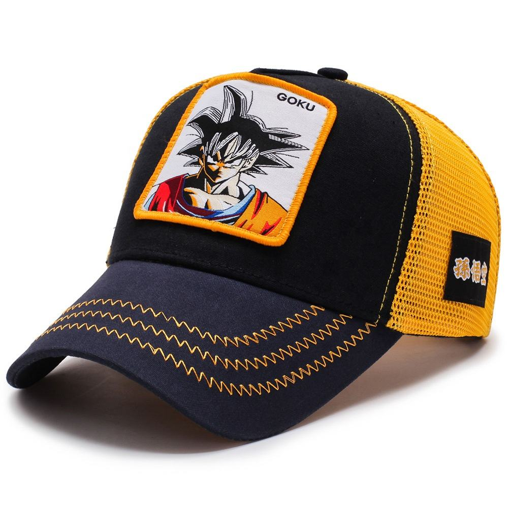 Großhandel Custom Mode Naruto Casquette Baseball Goku Dragon Ball Z Kappe Gorras Animales Dragon Ball Mesh Hut Vegeta