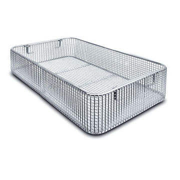 stainless steel wire mesh sterilization basket for medical autoclave tray