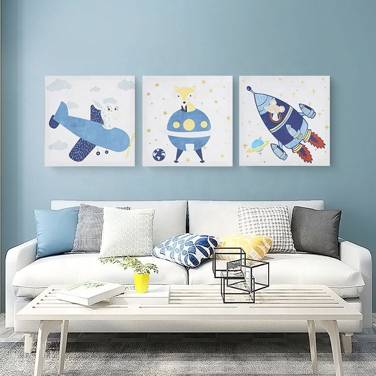 New Product Wonderful Childhood Spacecraft ECO-Friendly Inkjet Kids Canvas Painting Set