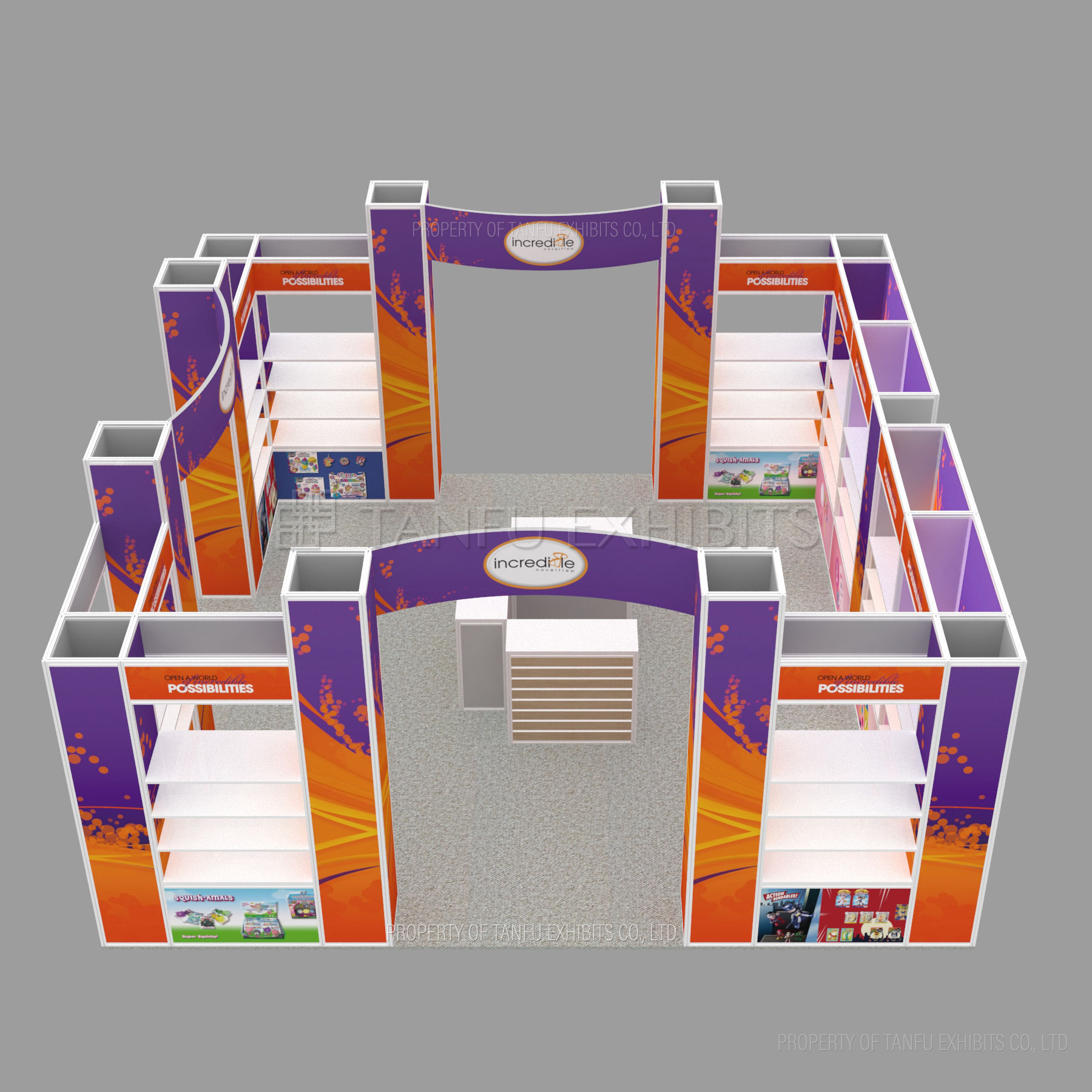 Exhibition Booth Expo Display Trade Show 20X20