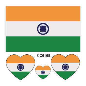 Factory Directly Sale Water Transfer India Flag Sticker for Skin