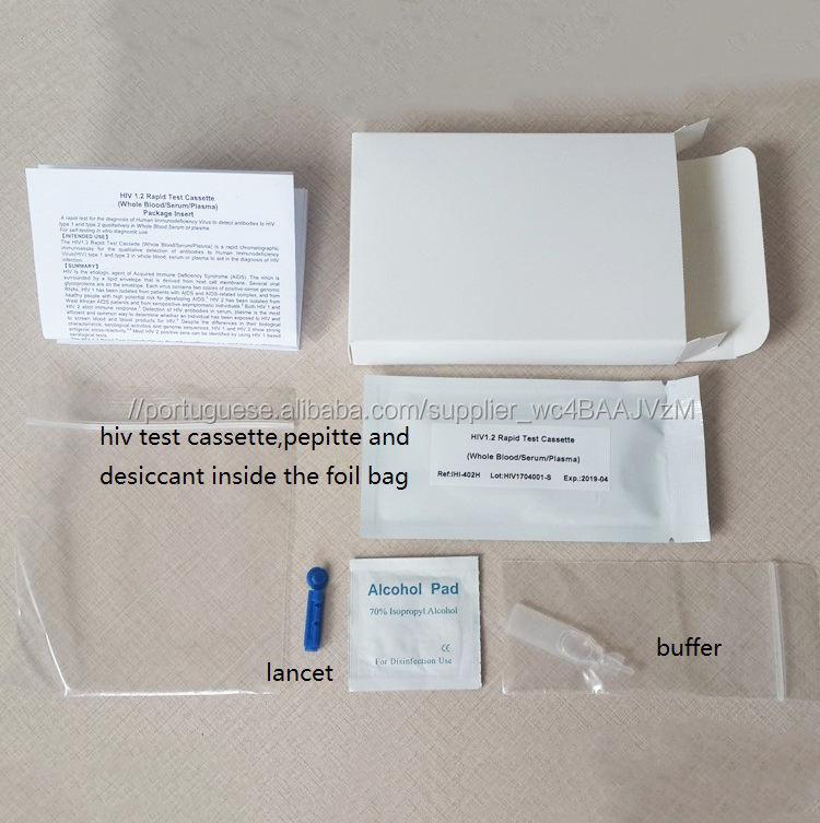 Casa auto um passo HIV 1/2 STD kits de teste de diagnóstico rápido