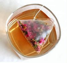 OEM private label for flower/fruit tea with triangle teabag/types of pyramid teabag