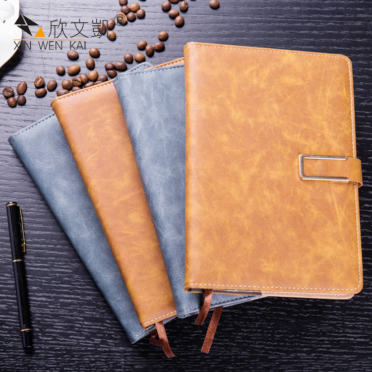 Office Supplies PU Leather Cover Eco Friendly Luxury Business A5 Notebook
