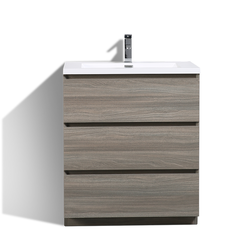 30 inch Commercial MDF Melamine Finish Floor Bathroom Vanity and Cabinet Combo