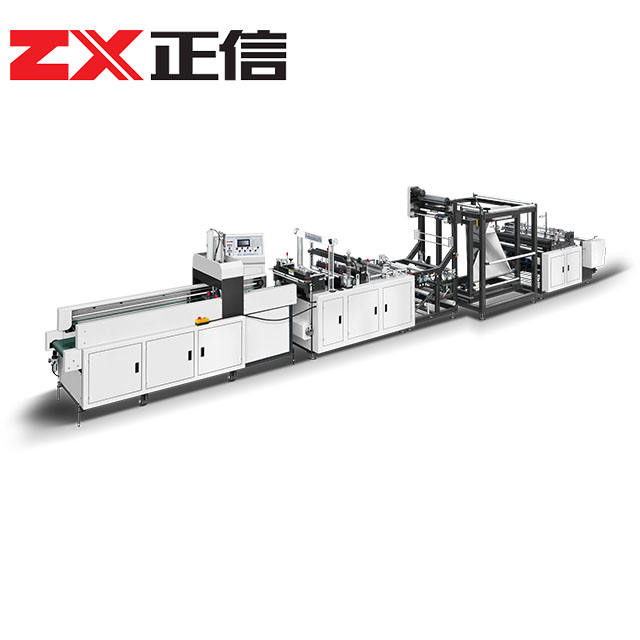 ZXL-A700 full automatic W-cut/T-shirt non woven shopping bag making machine price