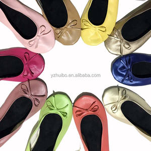 Ballet shoes Foldable Flats and Travel Pouch Travel Slipper