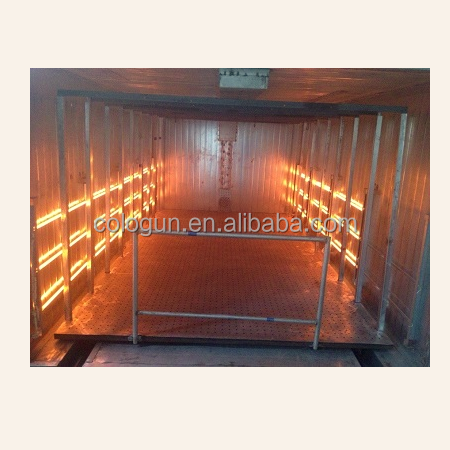 Infrared powder coating oven
