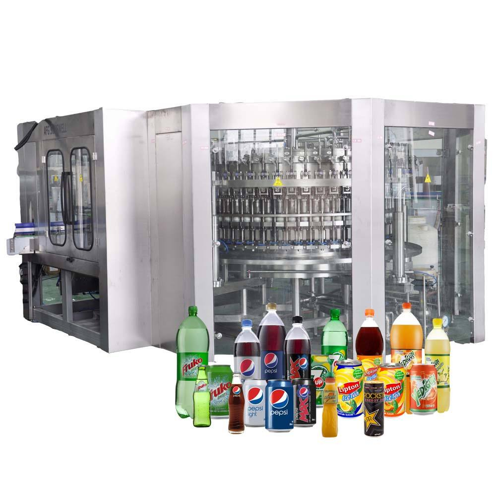 SUNSWELL the newest Bottle Drinking for Carbonated Drinks Filling machine Soda Water Production Line