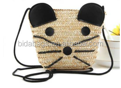 Shoulder Messenger straw woven straw beach bag Mickey Mouse new handbag purse bag