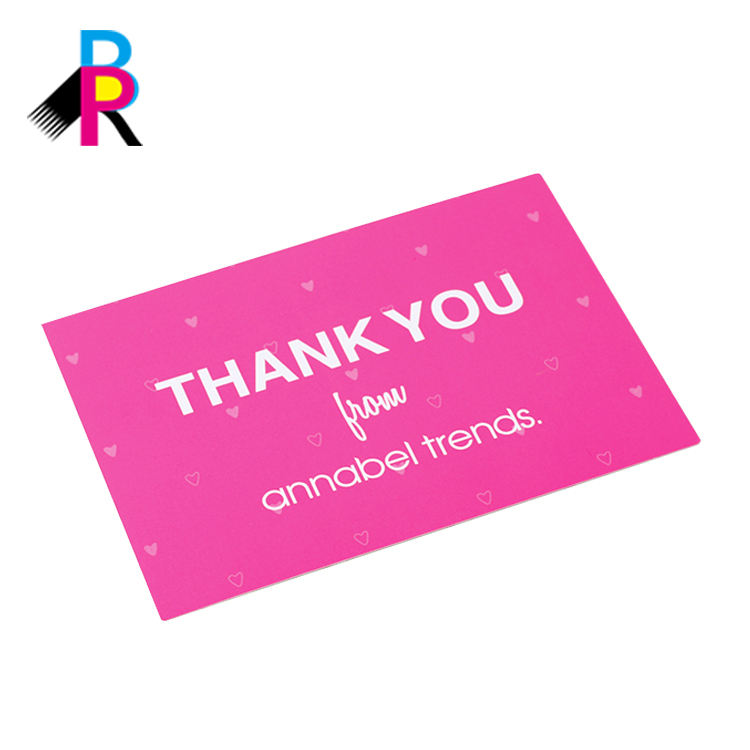 Pink Color Matt Lamination High Quality OEM Custom Printing Thank You Cards