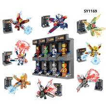 Super Heroes figure bricks building blocks children mini Toys SY1169