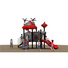 2019 New Product Aircraft Roof Metal  Play Rides Outdoor Plastic Slide Playground Equipment for sale