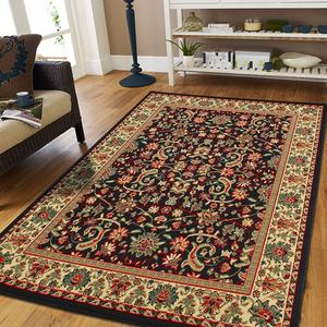 Living Room Large Area Rug 8x11 Oriental Rugs Black Persian Rug