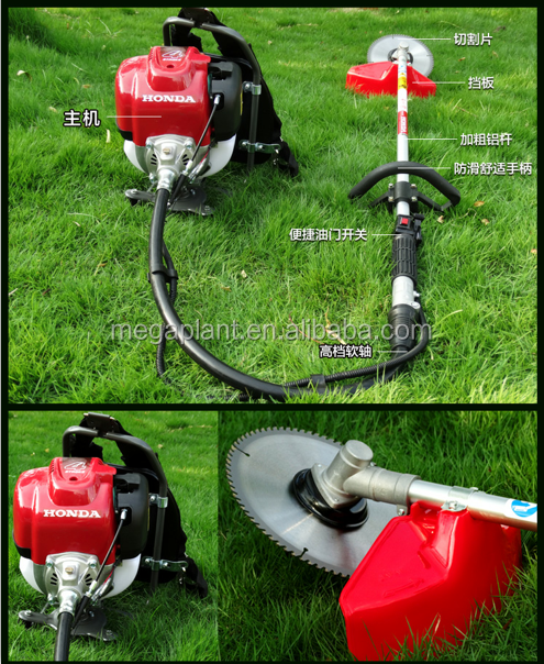 GX35 Backpack Type Hand-held paddy wheat reaper brush cutter/mini weeding machine /Grass sugar cane cutter