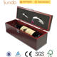 Red Wine Winemdf Wooden Box Wholesale Classic Red Lacquered Wooden Wine Packing Boxes