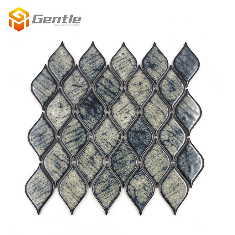 Ceramic Mosaic Tile [ Mosaics Kitchen Backsplash Mosaic ] Mosaic Kitchen Backsplash Tile Glazed Mosaics Non-slip Kitchen Backsplash Tiles Price In Malaysia Agate Design Ceramic Mixed Color Leaf Shape Mosaic Tile