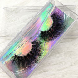 FDshine clear invisible band 3d mink eye lashes false eyelashes