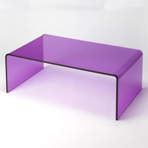 Modern Purple Acrylic Cocktail Table Coffee Dinner Tables
