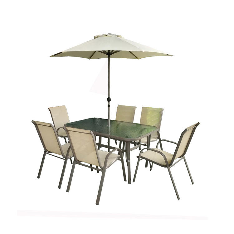 Promotion Cheap 8pcs set outdoor furniture with umbrella