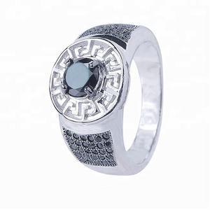 Arabisch mode 925 silber schwarz edelstein ring für männer großhandel