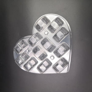 Heart shape clear macaron blister packing