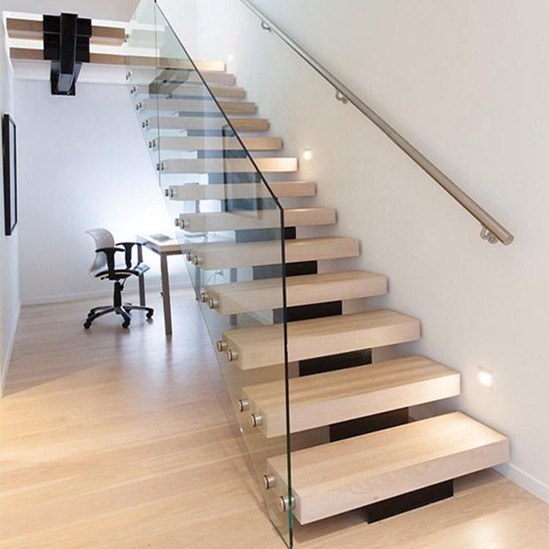 Appartement draagbare interieur glas hout trappen