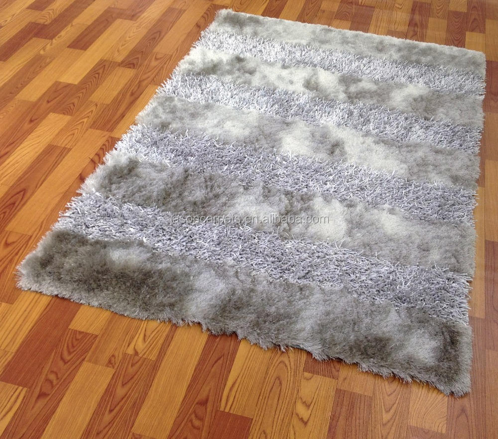 mixed yarns table tufted 100%polyester shaggy rugs for living room