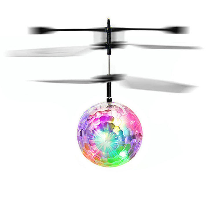 infrared inductive floating led crystal magic rc flying ball helicopter toy