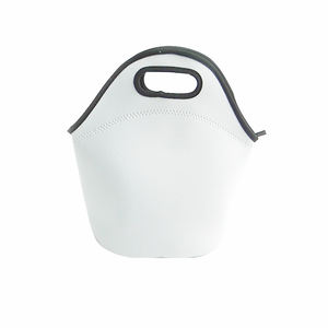 Wholesale neoprene white blank lunch bag for sublimation