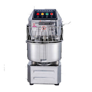 kitchen belt driven timer controlling b20 50kg flour dough spiral mixer kneader machine 20l