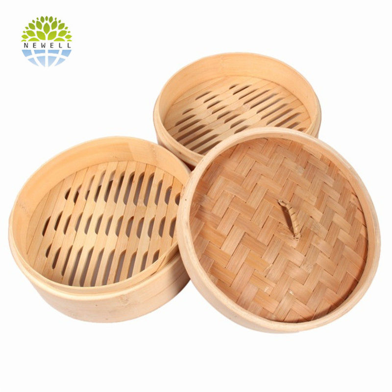 New Style 3 tier bamboo steamer sets with good quality