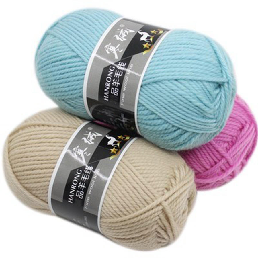 COOMAMUU Thick Australia Wool Yarn Suitable For Hand knitting Scarf Sweater Hat Woolen Weaving Crochet Thread Hand Craft Supply