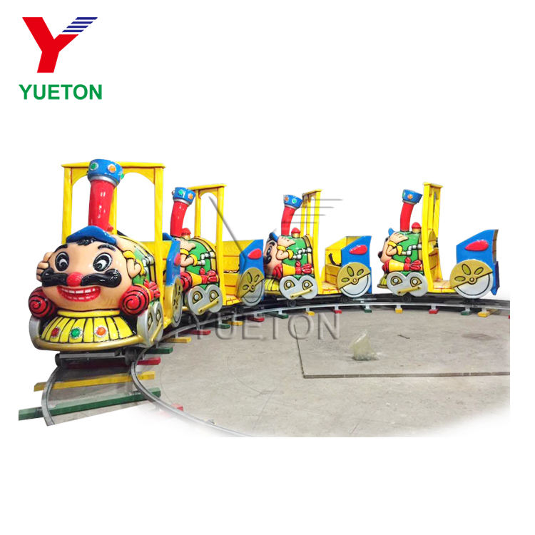Low Price Outdoor Kids Amusement Games Small Electric Powered Monorail Mini 8 Seats Electric Track Train For Sale