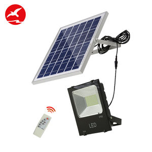 High quality high power square football yard ip65 waterproof 100w solar led flood light price