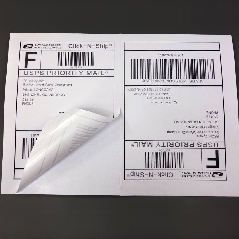 4000 Half sheets Self Adhesive Shipping labels A4 Sticker 2 per sheet 210x297mm or usps label 5.5 x 8.5 inch (1 carton)