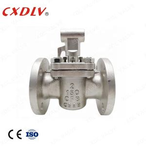 2 Way Flanged Sleeved Plug Valves Soft Sealing Lubricated Tufline Manual Operator