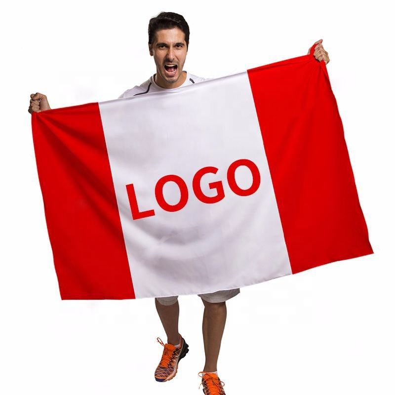 48h Fast Delivery 3X5 Customized Logo Printing Flags Promotional Advertise Banner